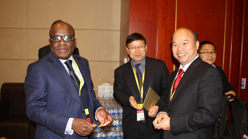 <p>On Oct 21<sup>st</sup>, 2014, Vice President LanFusheng met with Mr.Ramatlhodi, Minister of Mineral Resources of South Africa in Tianjin.</p>