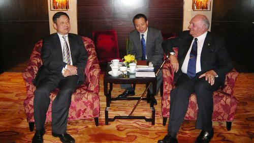 <p>On Apr 29<sup>th</sup>, 2009, Mr. Huang Xiaodongheld talks with Vice President of Peru in Beijing.</p>