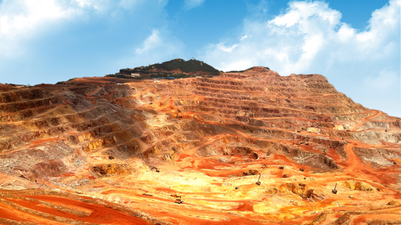 Open pit of Zijinshan gold & copper mine